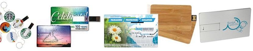 cles usb carte de credit