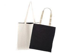 sac coton reversible anses longues avec marquage publicitaire