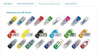 Achat clé USB : video, prix