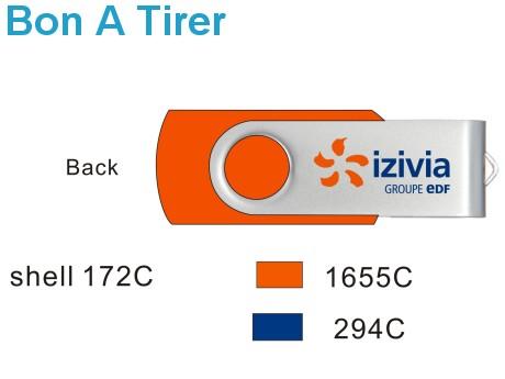 BAT Clé USB personnalisée TWISTER