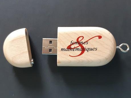 Clé USB publicitaire Bois GALET