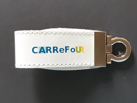 Clé USB publicitaire Cuir VOYAGEUR