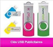 gamme cles usb publicitaires personnalisées avec logo