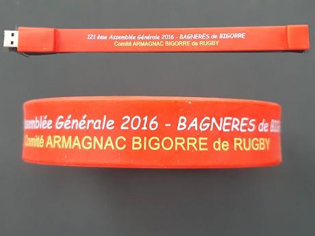 bracelet USB publicitaire
