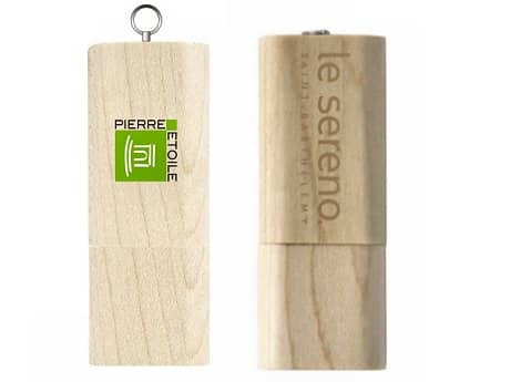 cle usb publicitaire en bois nature