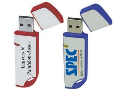 Clé USB Publicitaire REGULAR Clé USB Avec Bouchon Marquage Logo - Porte clé usb