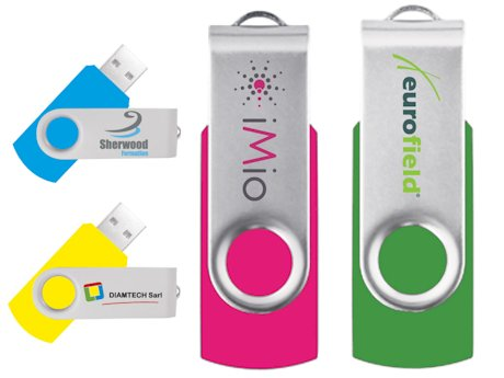 Clé USB publicitaire TWISTER Délai standard