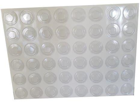 clip PVC transparent adhésif