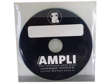 Duplication CD avec Pochette plastique