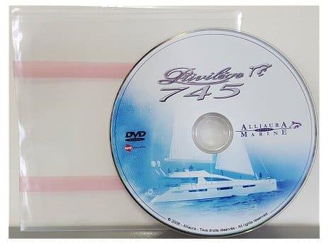Duplication DVD en pochette plastique dos adhésif