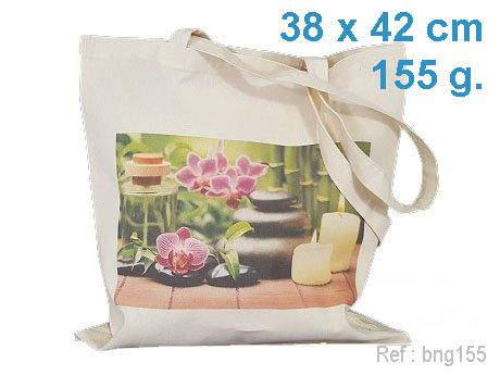tote bag publicitaire ecru 155 g avec marquage publicitaire en France