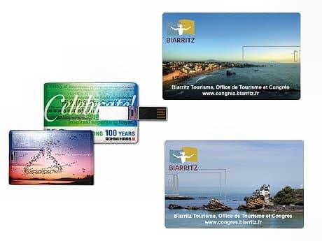 cle usb publicitaire carte de crédit
