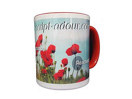 mug personnalise bicolore