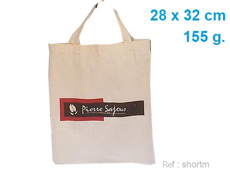 sac coton personnalisé anses courtes