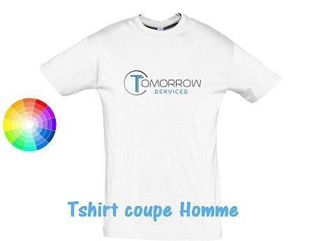 tee-shirt publicitaire blanc homme