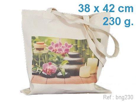Sac coton publicitaire ecru 230 g avec marquage publicitaire en France