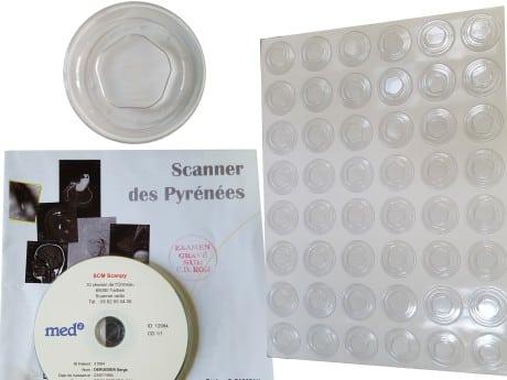 clip PVC transparent adhésif pour CD