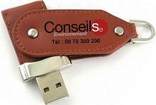 clés USB publicitaires twister cuir