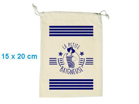 Pochon publicitaire coton format S – 15 x 20 cm