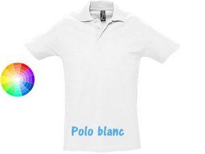 polo publicitaire blanc homme