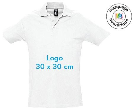 polo publicitaire blanc 30