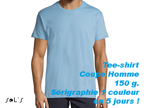 Tee shirt personnalise sérigraphie 1 couleur