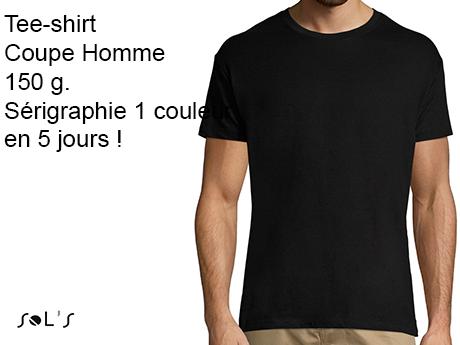 regarder style limité service durable Tee-shirt publicitaire personnalisé en couleur délais rapides