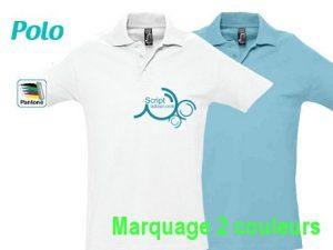 Polo publicitaire personnalisé sérigraphie 1 couleur
