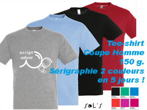 tee shirt personnalisé 2 couleurs