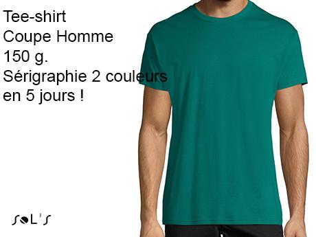 tee shirt personnalisé homme sérigraphie 2 couleurs