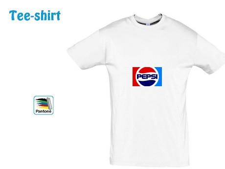 Tee-shirt-publicitaire blanc Script adour