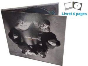 gravure cd avec digipack et livret 4 pages