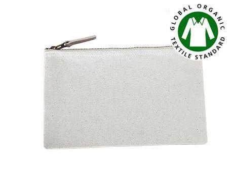 Trousse publicitaire coton bio ecru 25x15 cm