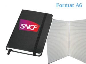 carnet notes publicitaire noir a6