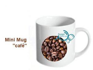 mini mug publicitaire tasse café