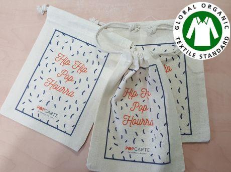 pochon publicitaire coton bio-ecru petit format