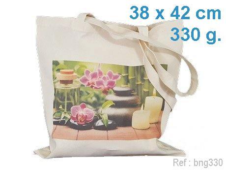 Sac coton publicitaire ecru 330 g avec marquage publicitaire en France