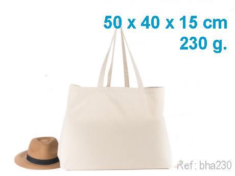 Sac cabas coton avec soufflet personnalisé – 40 x 50 x 15 cm 230 g
