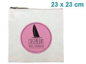 Trousse publicitaire coton – 23 x 23 cm