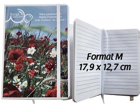 carnet de notes format M avec marquage publicitaire