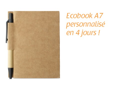 Carnet de notes ECO papier recyclé
