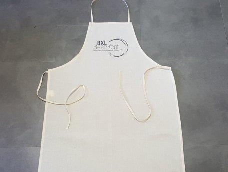 tablier personnalise coton blanc