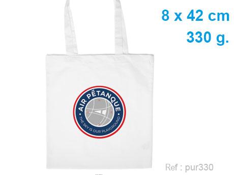 totebag publicitaire coton blanc 330 g
