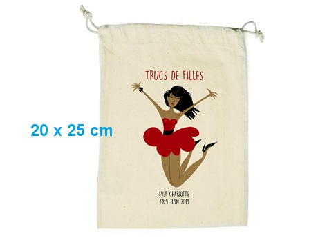 Pochon publicitaire coton format S+ - 20x25 cm