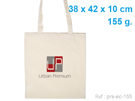 sac cabas publicitaire coton écru 155 g