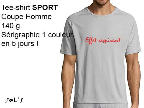 Tee-shirt publicitaire HOMME SPECIAL SPORT