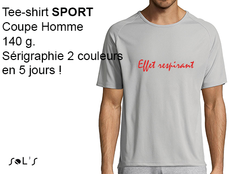 tee-shirt publicitaire de couleur SPECIAL SPORT