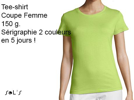 tee shirt personnalisé femme sérigraphie 2 couleurs