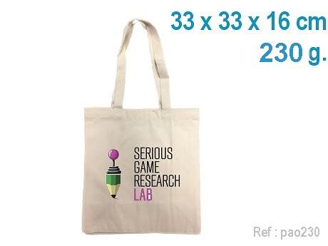 Petit sac CABAS coton personnalisé écru 33 x 33 x 16 cm – 230 g