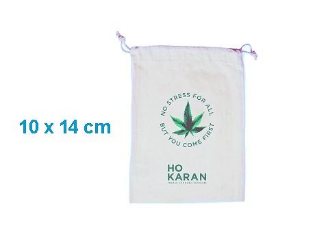 Pochon publicitaire coton blanc 10 x 14